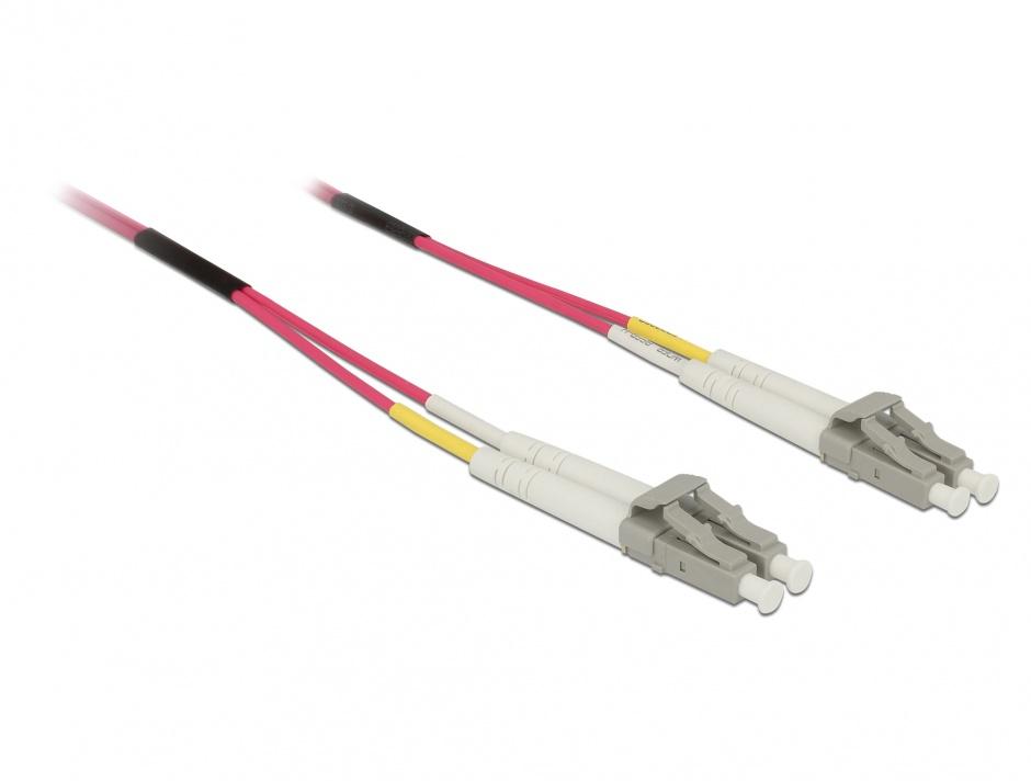 Imagine Cablu fibra optica LC- LC Multimode OM4 5m, Delock 84643