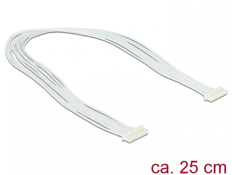 Imagine Cablu USB 2.0 pin header 1.25mm 8 pini 25cm M-M, Delock 84840