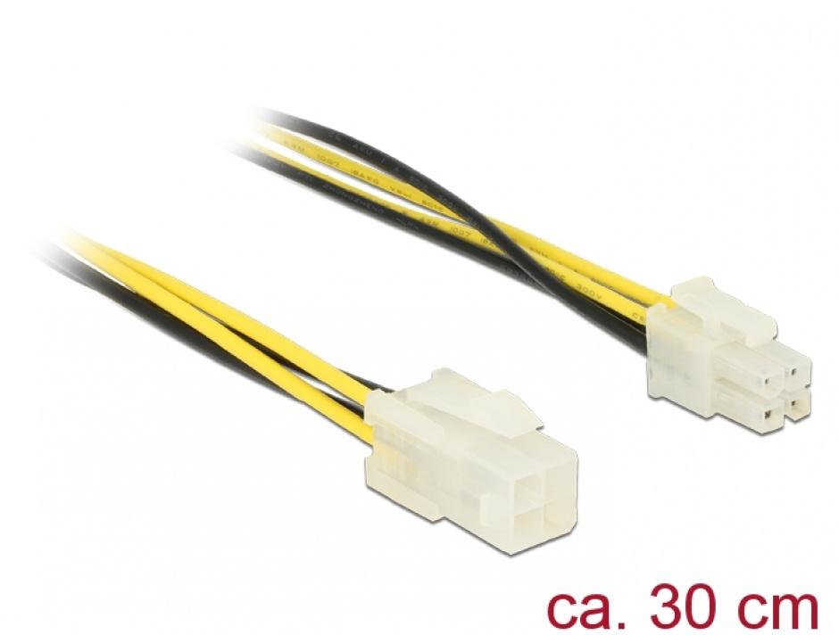 Imagine Cablu prelungitor P4 4 pini T-M 30cm, Delock 84954