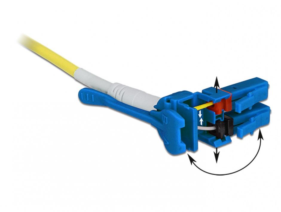 Imagine Cablu fibra optica LC - LC Singlemode OS2 Uniboot 1m, Delock 85083