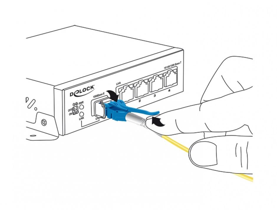 Imagine Cablu fibra optica LC - LC Singlemode OS2 Uniboot 3m, Delock 85085