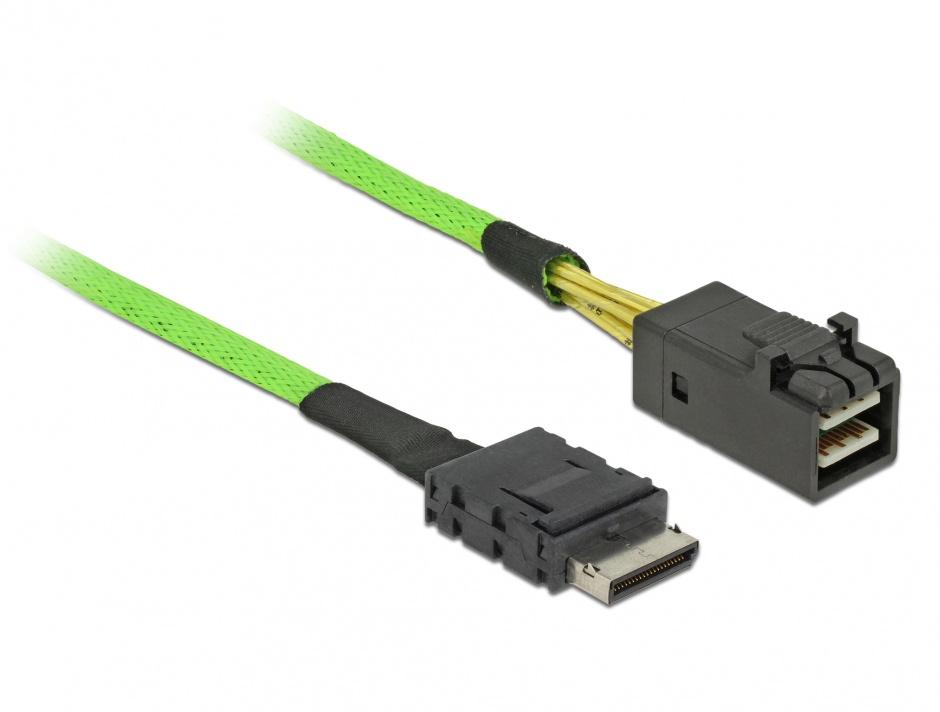 Imagine Cablu OCuLink PCIe SFF-8611 la SFF-8643 0.5m, Delock 85210