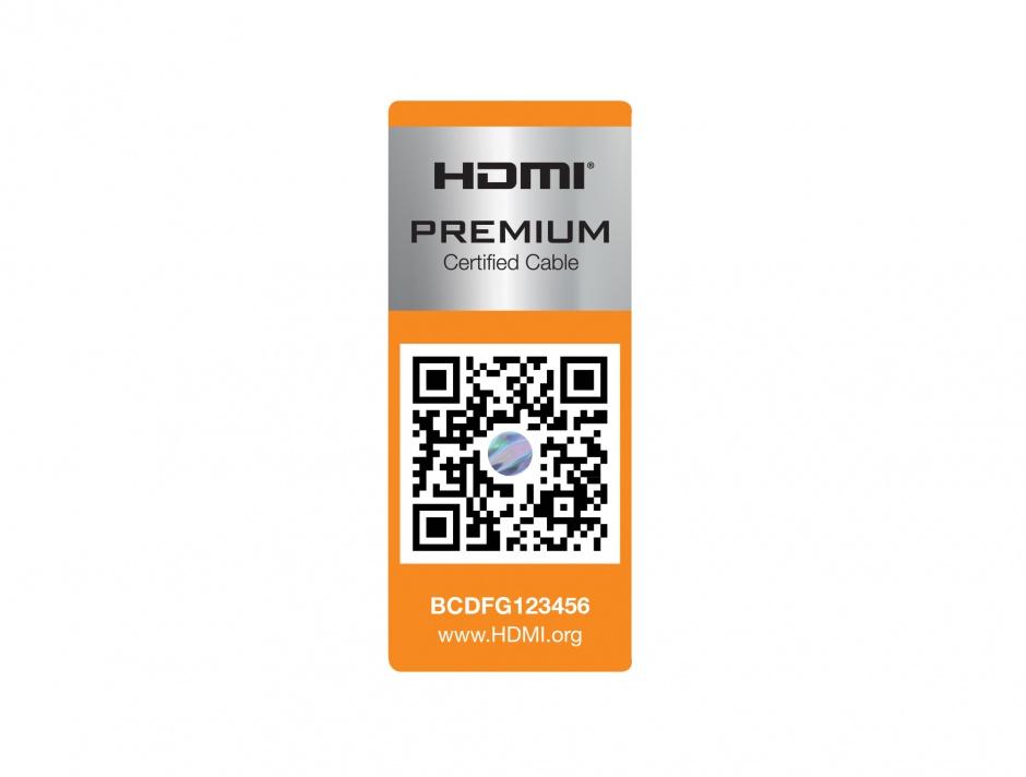 Imagine Cablu HDMI Premium 4K 60Hz 2m T-T Negru, Delock 85217