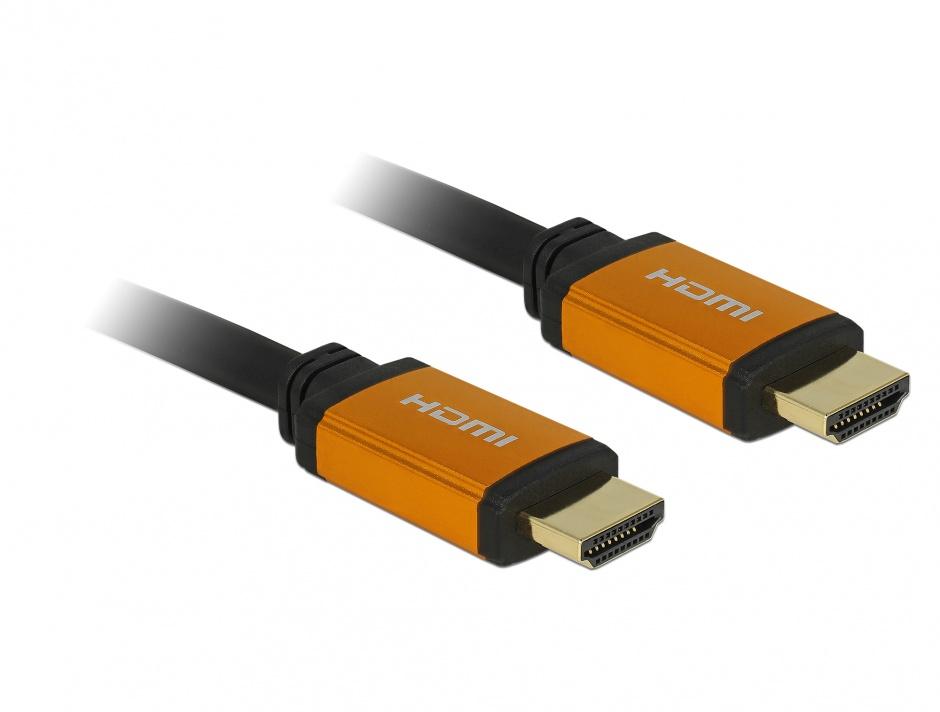 Imagine Cablu Ultra High Speed HDMI 8K60Hz/4K240Hz T-T 2m Negru, Delock 85729