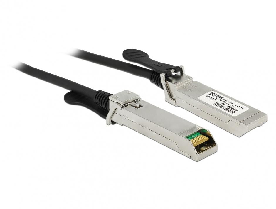 Imagine Cablu Twinax SFP+ T-T 3m, Delock 86222