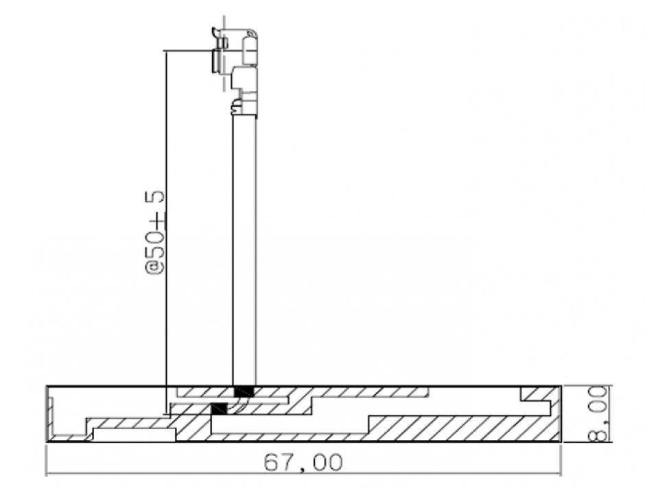 Imagine Antena GSM UMTS MHF/U.FL-LP-068 2 dBi 50 mm PCB Intern Self Adhesive, Delock 86251