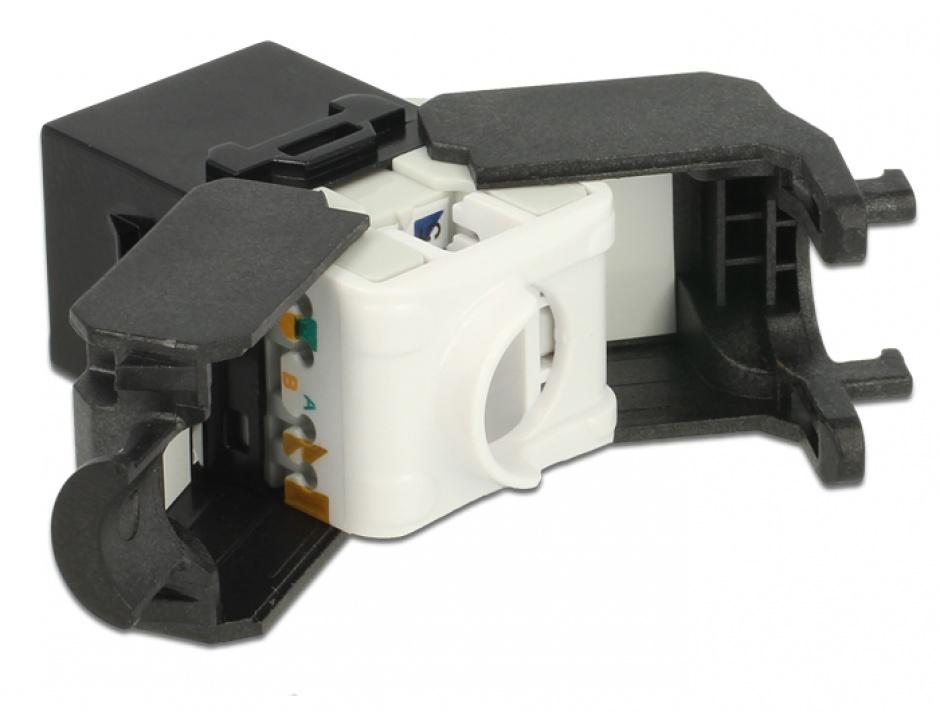 Imagine Modul Keystone RJ45 la LSA Cat.6A UTP Negru, Delock 86267