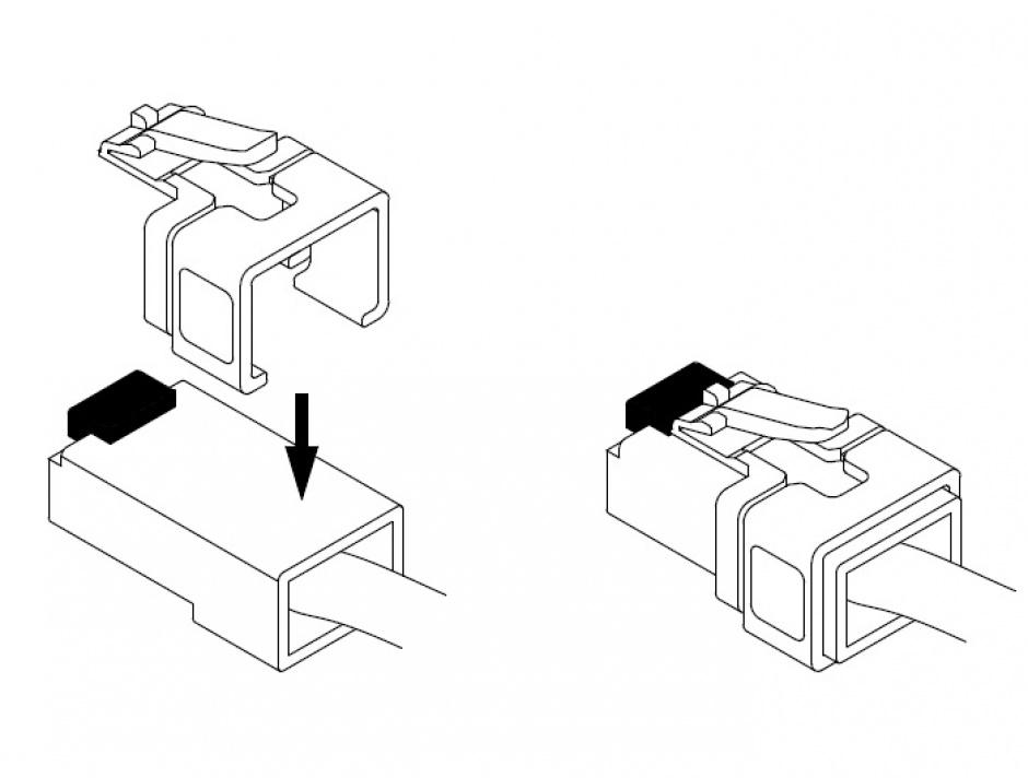 Imagine Set 16 buc RJ45 pentru repararea cablurilor de retea, Delock 86420