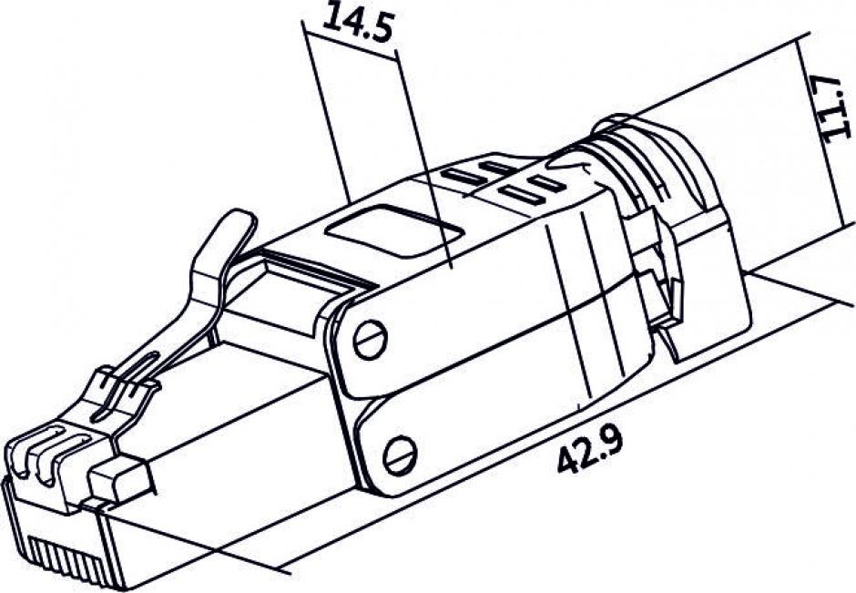 Imagine Conector RJ45 Cat.6 pentru fir solid UTP toolfree, Delock 86426
