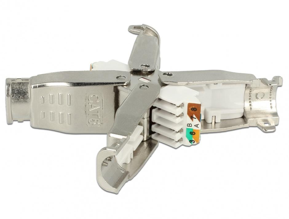 Imagine Cupla pentru retea RJ 45 Cat.6 STP toolfree, Delock 86428