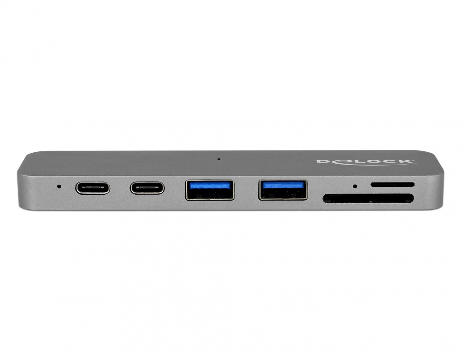 Imagine Docking Station pentru Macbook 2 x Thunderbolt 3/USB-C la 1 x HDMI, 2 x USB-A, 2 x USB-C, 1 x slot m