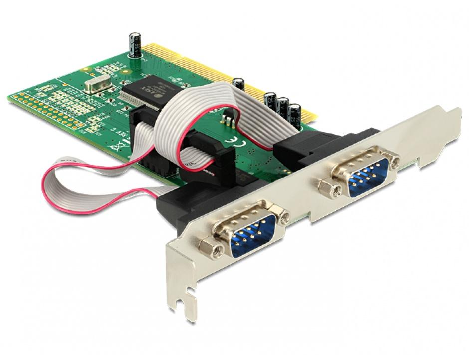 Imagine Placa PCI la Serial 2 porturi RS232, Delock 89003
