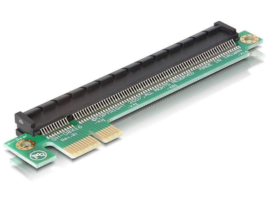 Imagine Riser Card PCI Express x1 la x16, Delock 89159