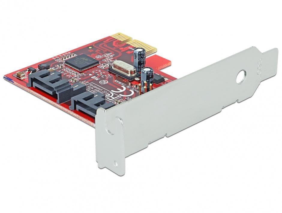 Imagine Placa PCI Express la 2 porturi interne SATA 6 Gb/s, Delock 89270