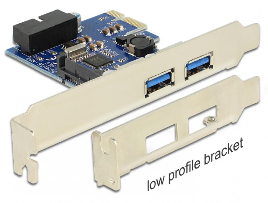 Imagine PCI Express 2 x USB 3.0 extern, 1 x USB 3.0 intern 19 pin, Delock 89315
