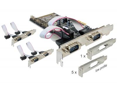 Imagine Placa PCI Express cu 6 x Serial RS232, Delock 89347