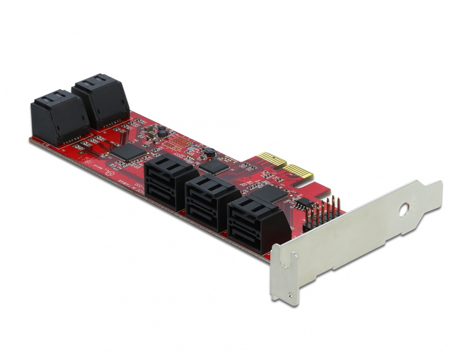 Imagine PCI Express cu 10 porturi SATA 6 Gb/s interne, Delock 89384