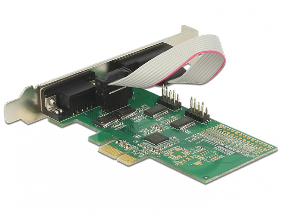 Imagine PCI Express la 4 x Serial RS-232, Delock 89557