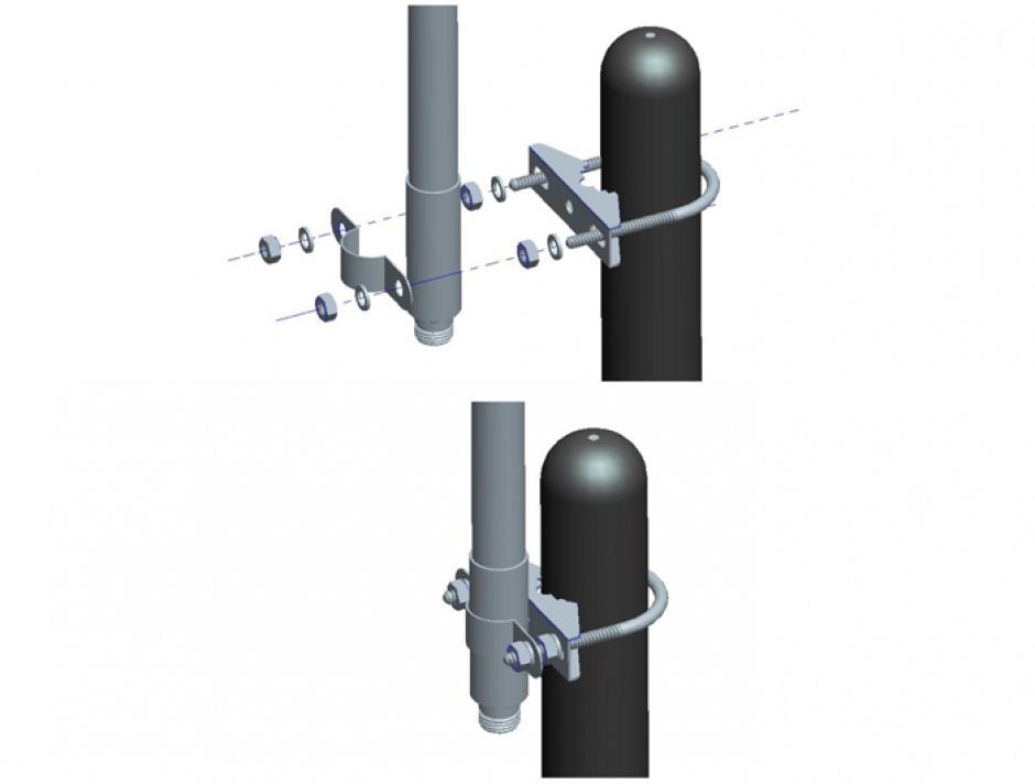 Imagine Antenna N jack 3 dBi 32 cm omnidirectional fixed pole mount white outdoor LoRa 868 MHz, Delock 89583