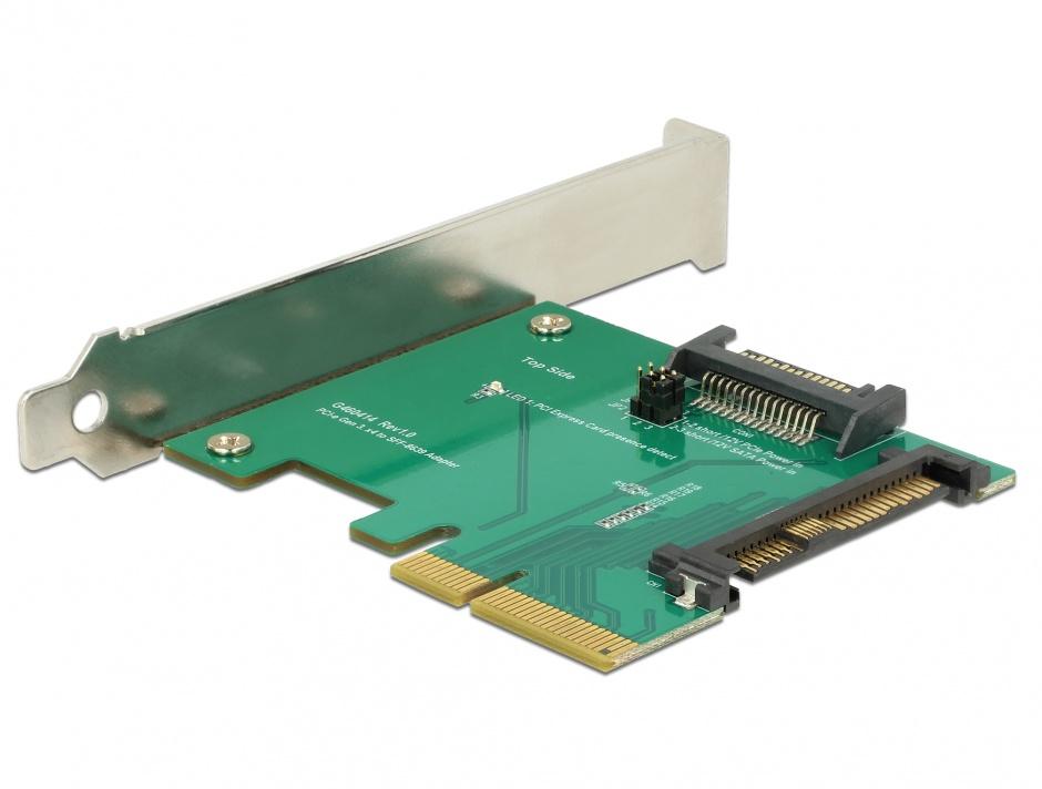 Imagine PCI Express la un port intern tata U.2 NVMe SFF-8639, Delock 89673
