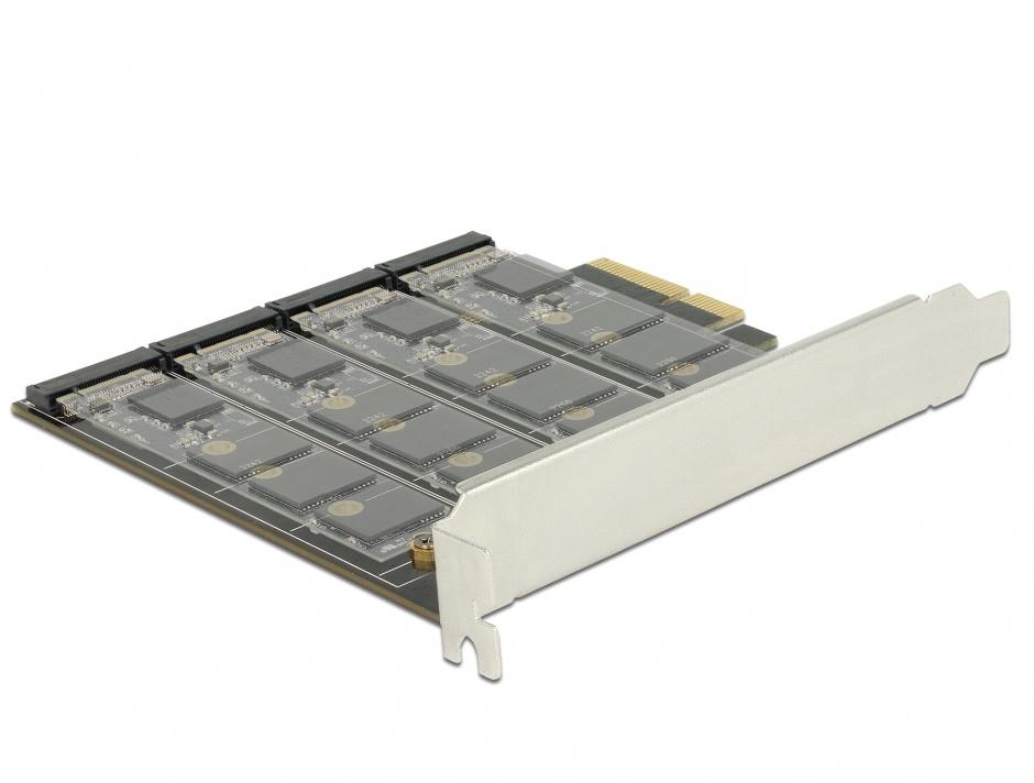 Imagine PCI Express cu 4 porturi M.2 key B RAID, Delock 89888