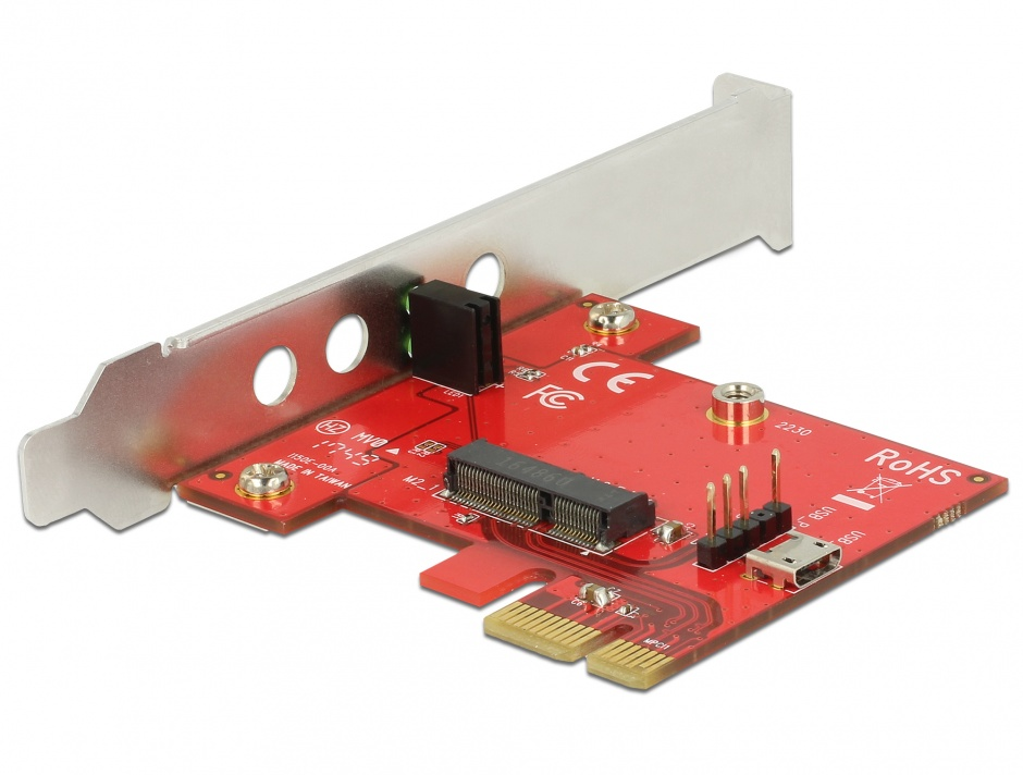Imagine PCI Express la 1 x M.2 Key E - Low Profile Form Factor, Delock 89889