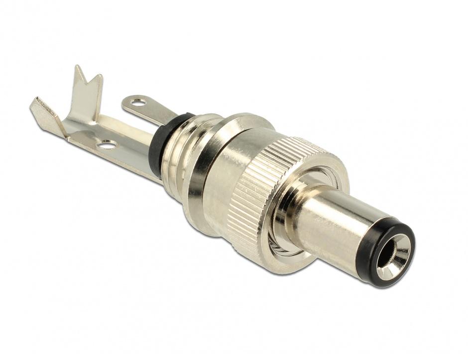 Imagine Conector tata DC 5.5 x 2.5 mm lungime 9.5 mm, Delock 89914