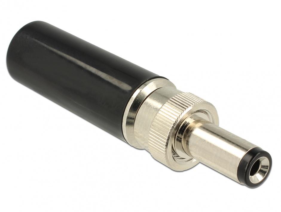 Imagine Conector tata DC 5.5 x 2.1 mm lungime 12.0 mm, Delock 89915