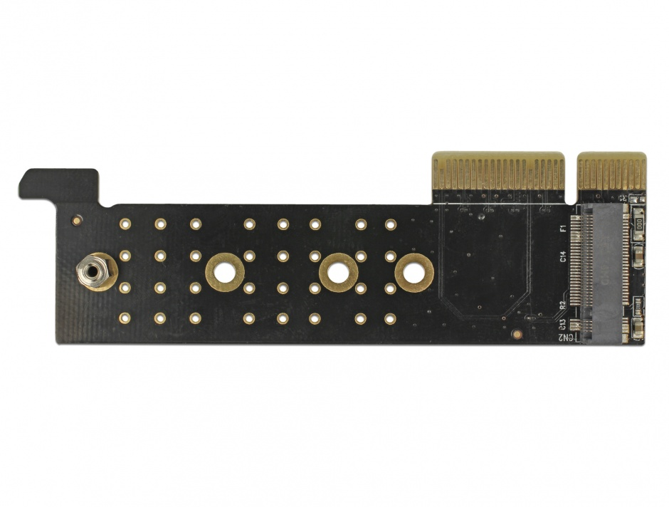 Imagine PCI Express x4 la 1 x NVMe M.2 Key M pentru Server 1U, Delock 89929