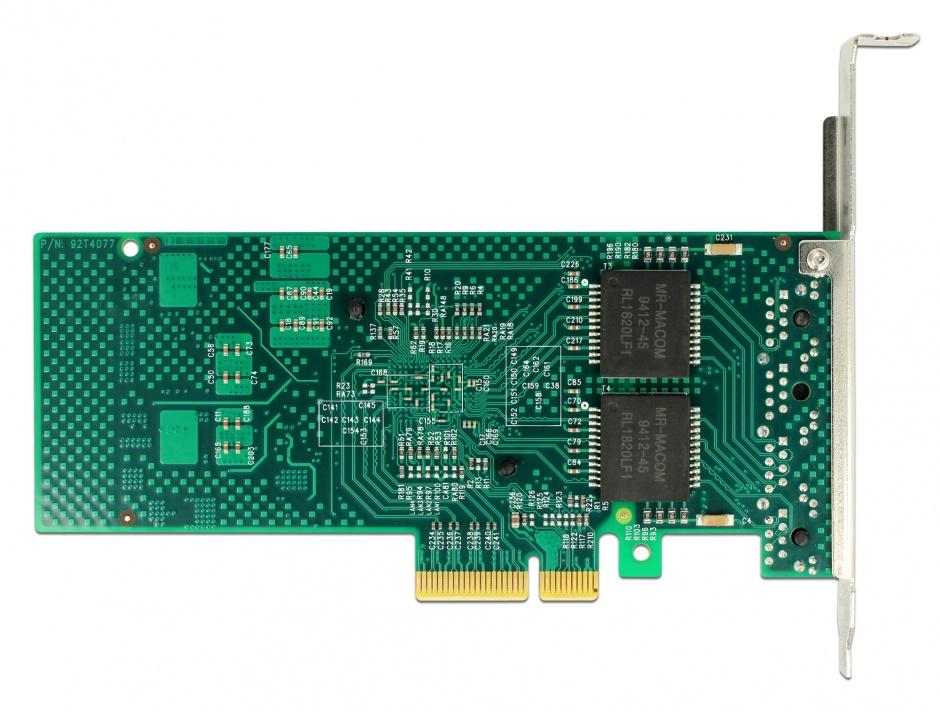 Imagine PCI Express la 4 x Gigabit LAN chipset Intel i350, Delock 89946