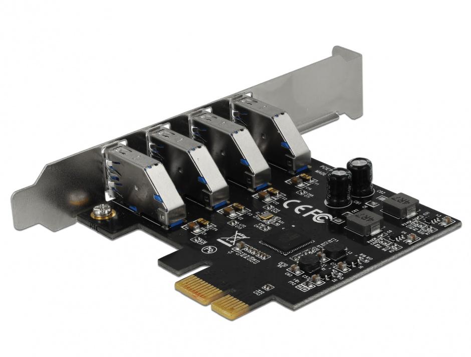 Imagine PCI Express cu 4 porturi USB 3.0 (pentru Mac), Delock 90304