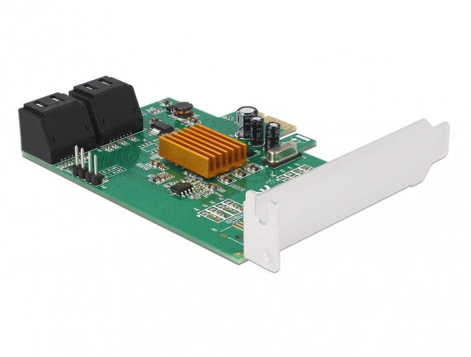 Imagine PCI Express cu 4 porturi SATA III, Delock 90382