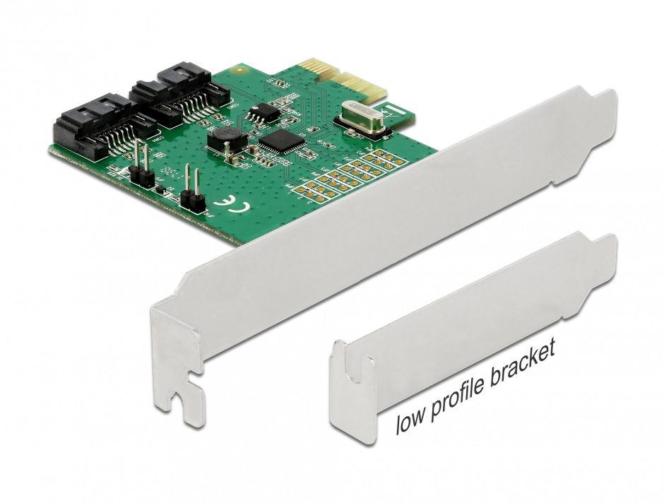 Imagine PCI Express cu 2 porturi SATA III cu RAID, Delock 90392