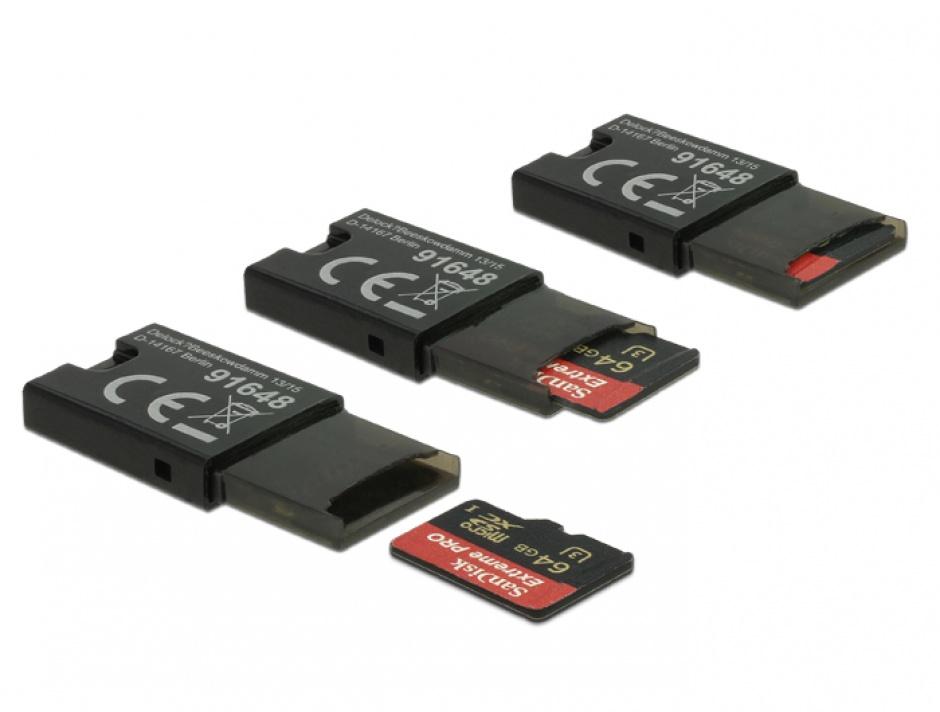 Imagine Cititor de carduri micro SD pe USB 2.0, Delock 91648