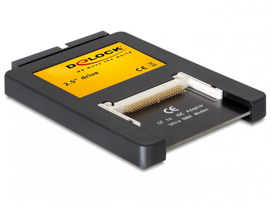 Imagine Cititor de carduri interfata 2,5 inch IDE la 2 x Compact Flash, Delock 91662