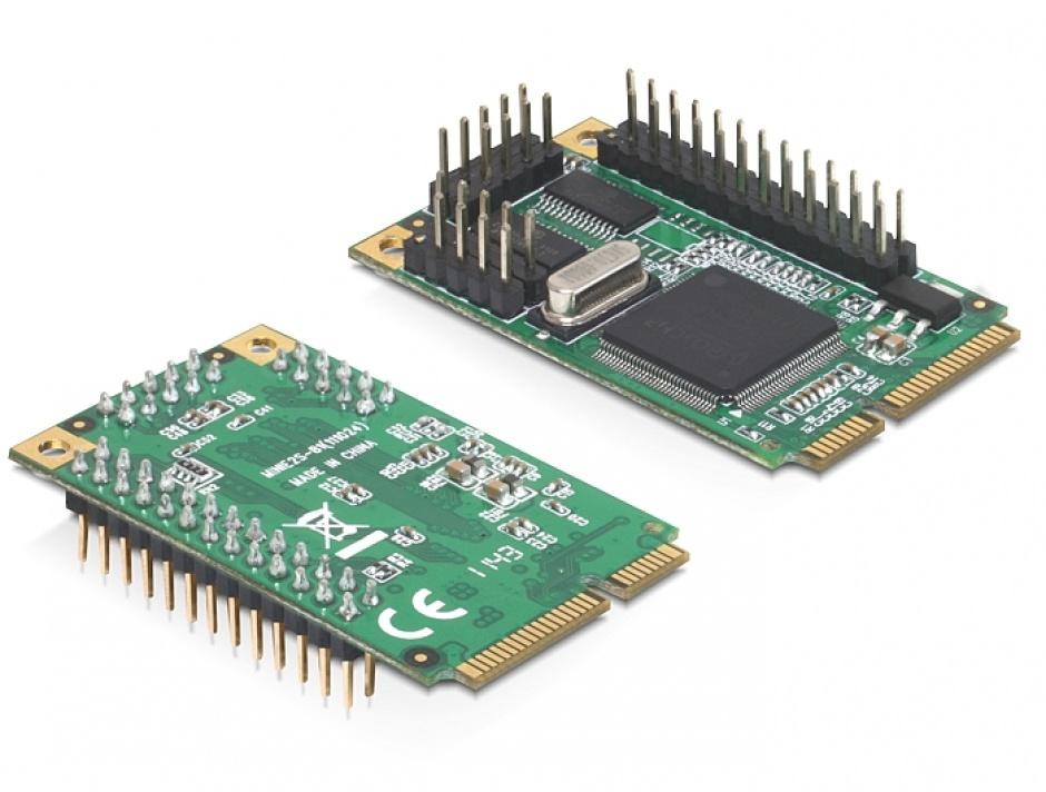 Imagine Mini PCIe I/O PCIe full size 2 x serial RS-232, 1 x parallel, Delock 95232