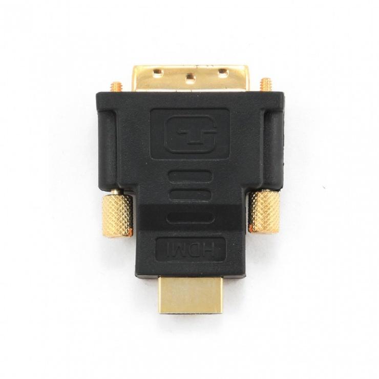 Imagine Adaptor DVI-D Single Link la HDMI T-T, Gembird A-HDMI-DVI-1