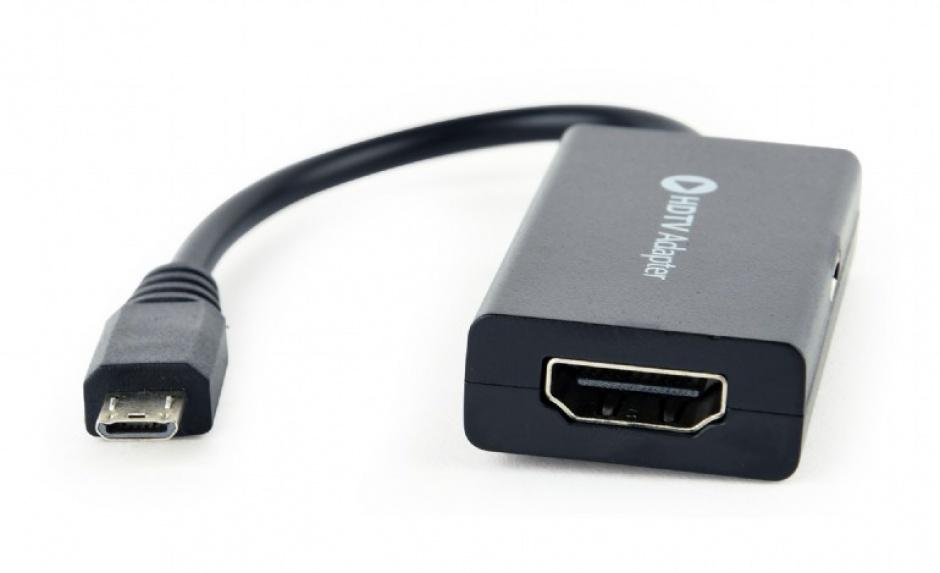 Imagine Adaptor micro USB 11 pini MHL la HDMI, Gembird A-MHL-003