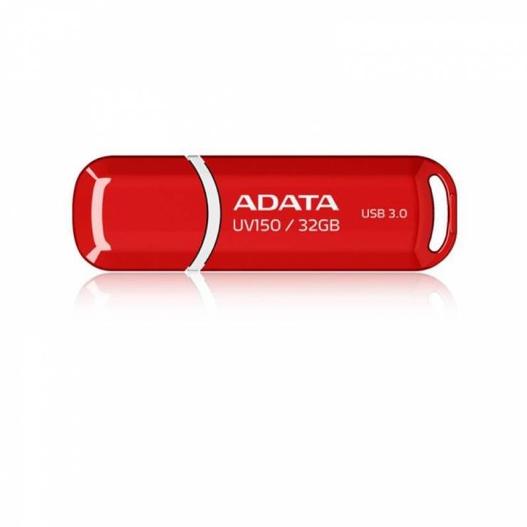 Imagine Stick USB 3.1 cu capac 32GB UV150 Rosu, ADATA AUV150-32G-RRD