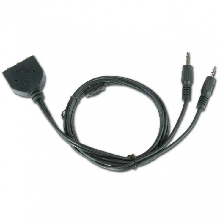 Imagine Cablu audio 2 x jack stereo 3.5mm la 3 x jack stereo 3.5mm T-M 1m, CC-MIC-1