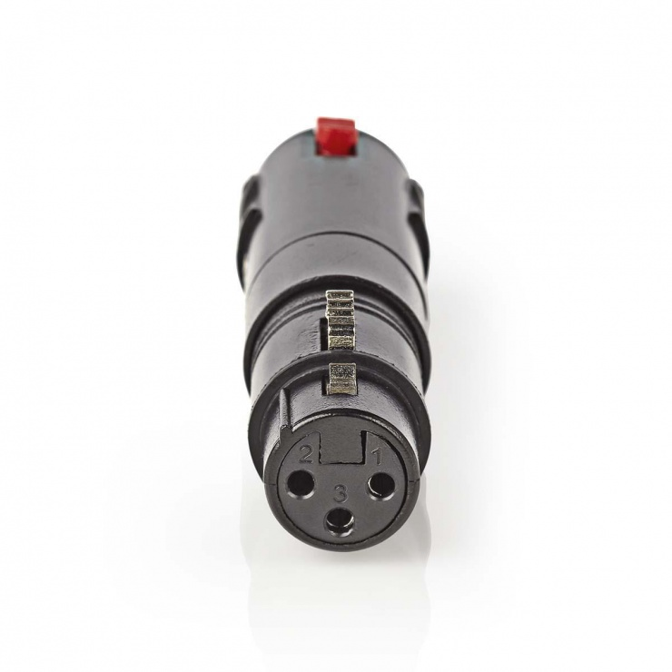 Imagine Adaptor XLR 3 pini la jack 6.3 mm M-M, Nedis COTP15944BK
