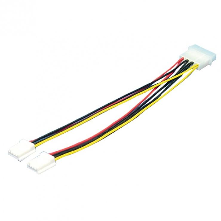 Imagine Cablu de alimentare Molex la 2 x Floppy T-M, Logilink CP0002
