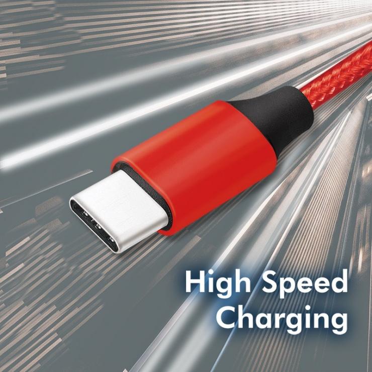 Imagine Cablu USB 2.0 la USB-C T-T 1m Rosu, Logilink CU0148