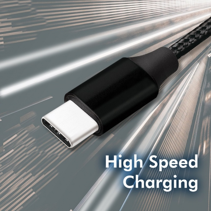 Imagine Cablu USB 2.0-C la USB-C T-T 0.3m Negru, Logilink CU0153