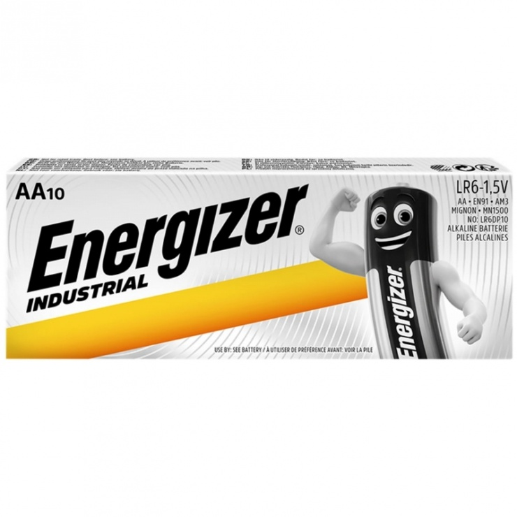Imagine Set 10 buc baterii industriale AA, ENERGIZER