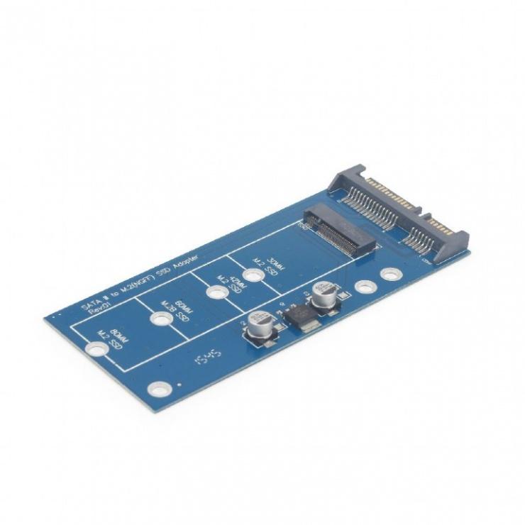 Imagine Adaptor SATA 22 pini la M.2, Gembird EE18-M2S3PCB-01