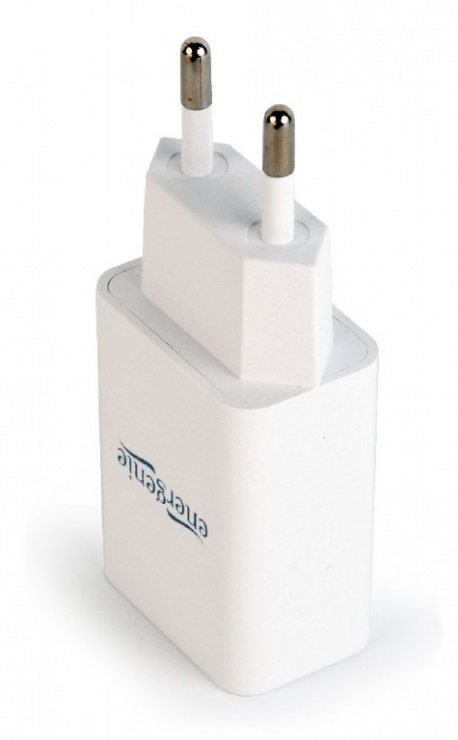 Imagine Incarcator priza 1 x USB 2.1A Alb, Gembird EG-UC2A-03-W