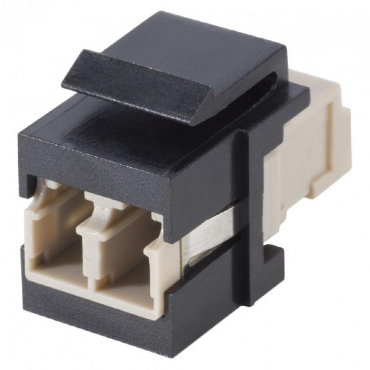 Imagine Keystone fibra optica LC-LC Negru, KST-L3L3-P-SW