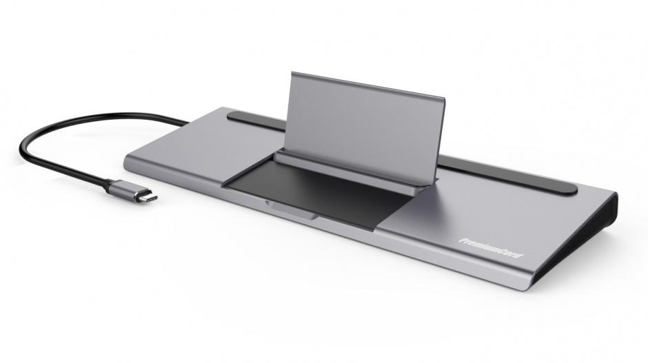 Imagine Docking station USB-C MST la HDMI/VGA/2 x USB 3.0/ slot SD / PD 100W (20V 5A) cu suport pentru smart