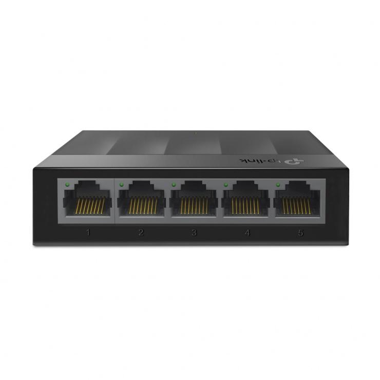 Imagine Switch Desktop LiteWave 5 porturi Gigabit Negru, TP-LINK LS1005G